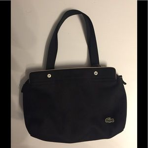 Black canvas Lacoste shoulder bag